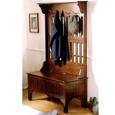 Antique Entryway Bench Coat Rack Mesmerizing Antique Hall Tree Storage Bench Metal Hat Hooks Storage Drawer Black