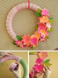 inexpensive spring wreath ideas