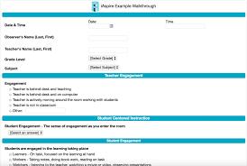 Sample Teacher Evaluation Form Sample Teacher Evaluation And Classroom Walkthrough Forms IAspire 17