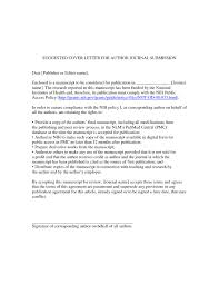 Cover Letter Journal Article Examples Mediafoxstudio Com
