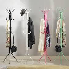 Floor Standing Coat Rack Modern Fashion Bedroom Hat Coat Rack Metal Tripod Coat Stand Floor 2