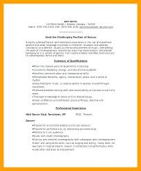 Sample Dance Resume For Audition Best of Ballet Dancer Resume Sample Dance Examples Template Free Audition