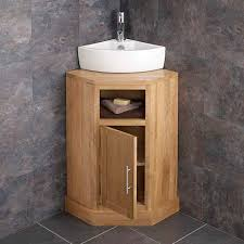 freestanding oak corner bathroom