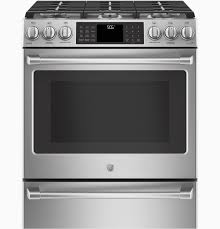 ge profile double oven astonishing ge caféâ series 30 slide in front control range with warming drawer