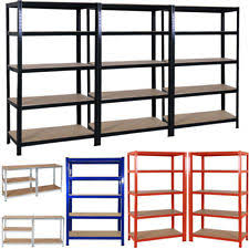 metal storage shelves. 5 tier heavy duty boltless metal shelving shelves storage shelf garage home 1.8m metal storage shelves