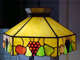 glass antique hanging leaded slag stained glass lamp