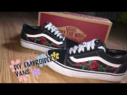 gucci vans. diy embroidery vans inspired by gucci gucci vans