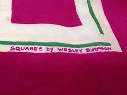 Vintage SQUARES by Wesley Simpson Pink Square Scarf 34 X 33 | eBay