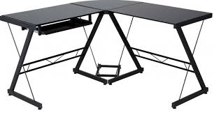 amazon home office furniture. black glass desk for desktop computer and laptop finding in amazon u2013 home office furniture
