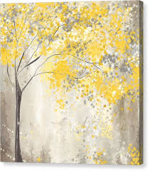 yellow and grey canvas print yellow and gray tree by lourry legarde on yellow and grey wall art canvas with yellow and grey canvas prints fine art america