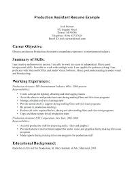 Film Production Assistant Cover Letter Video Production Cover Letter Photo Editor Cover Letter Assistant