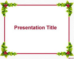 Powerpoint Frame Theme Free Christmas Frame Powerpoint Template Is A Free Theme For