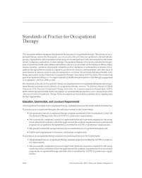 Standards Of Practice For Occupational Therapy | American Journal Of ...