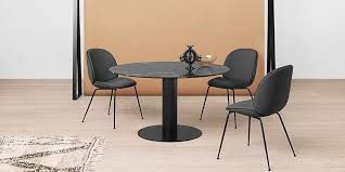 gubi 2 0 round dining table marble top available in various options