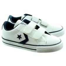 converse velcro shoes. converse starplayer 2 velcro shoes in white leather main image. loading zoom .