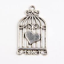 25 birdcage tibetan silver charms pendants jewelry making findings