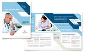 Medical Transcription Brochure Template Word Publisher