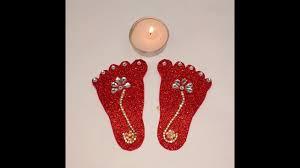 Laxmi Pagla Designs Diy How To Decorate Shree Lakshmi Jis Charan Paduka For