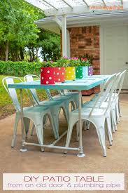 Diy patio table Cedar How To Diy Patio Table Should Be Mopping The Floor Should Be Mopping The Floor Making An Old Door Table