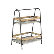 2 tier countertop fruit basket stand industrial iron on free