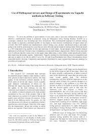 Design Of Experiments Software Testing Pdf Use Of Orthogonal Arrays And Design Of Experiments Via