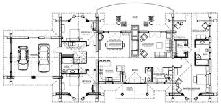 WrapAroundPorchFloorPlans  Log Home Floor Plans  Southland Open Log Home Floor Plans