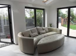 ... Bespoke curved corner sofa in leather ...