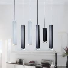 new led pendant lamp dimmable lights kitchen island dining room bar counter decoration cylinder pipe pendant lights designer pendant lighting dining
