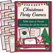 Funtastic Christmas Party Games Table Quiz And Puzzle Activities For Family Office Xmas Parties