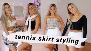 Womens tennis skirts & dresses(12). How To Style A Tennis Skirt Pleated Skirt Outfit Ideas Youtube