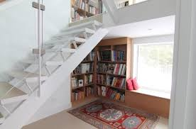 Under Stairs Furniture Stairs View In Gallery Cleanly Designed Bookcase Under Furniture
