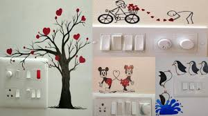 Switchboard Wall Painting Designs Switchboard Painting Design Ideas Light Switchboard Decorations Switch Socket Art