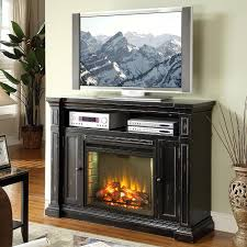 black electric fireplace tv stand