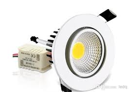 3w 5w 7w 10w cob recessed led ceiling spot light downlight lampa ac 85 265v