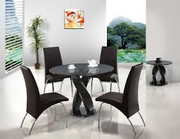 Glass Kitchen Table Sets Black Glass Dining Table And Chairs Uk Nifty Console Table Decor