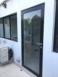 aluminum door framing aluminium frame with normal tempered laminated glass panel swing door aluminum door jamb aluminum door