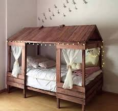 cabin style bed made with pallets these are the best pallet ideas