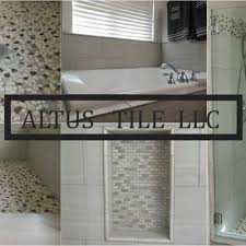 Remodeling Bathroom Floor Extraordinary Altus Tile LLC On Twitter R M Remodel Repair Floor Of A