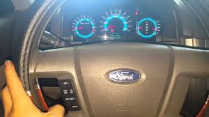 Ford Fusion Oil Light Reset Ford Fusion 2012 How To Reset Oil Light Youtube