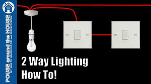 Lighting Circuits Explained How To Wire A 2 Way Light Switch 2 Way Lighting Explained Light Switch Tutorial