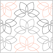 Lotus Blossom - Pantograph | Free Motion Quilting | Pinterest ... & Lotus Blossom - Pantograph Adamdwight.com