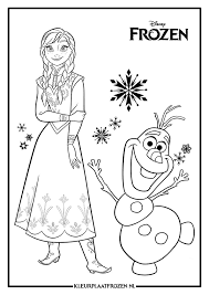 Anna Kleurplaat Uitprinten Op Kleurplaat Frozen