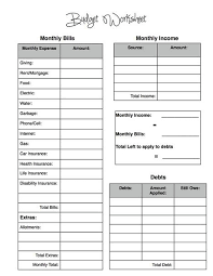 Budgeting Spreadsheet Free Free Budget Worksheet And Tips For Becoming Debt Free Www