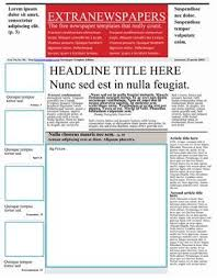 Newspaper Front Template Free Ms Word Headline Templates School Newsletter Template