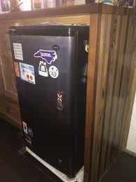 tiny house fridge. In Our 130 Square Foot Tiny House, We Have A 4.4 Cubic Ft. Compact Fridge. Wanted To Keep The Kitchen Space As Open Possible, So Opted For Fridge House D