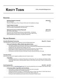 Delighted Plain Text Resumes Examples Gallery Entry Level Resume