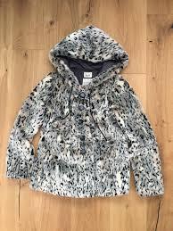 river island faux fur coat size 10