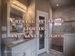 crystal bathroom lighting