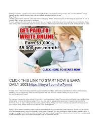 writing jobs work at home earn daily writing
