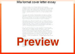 Cover Letter Mla Digiart